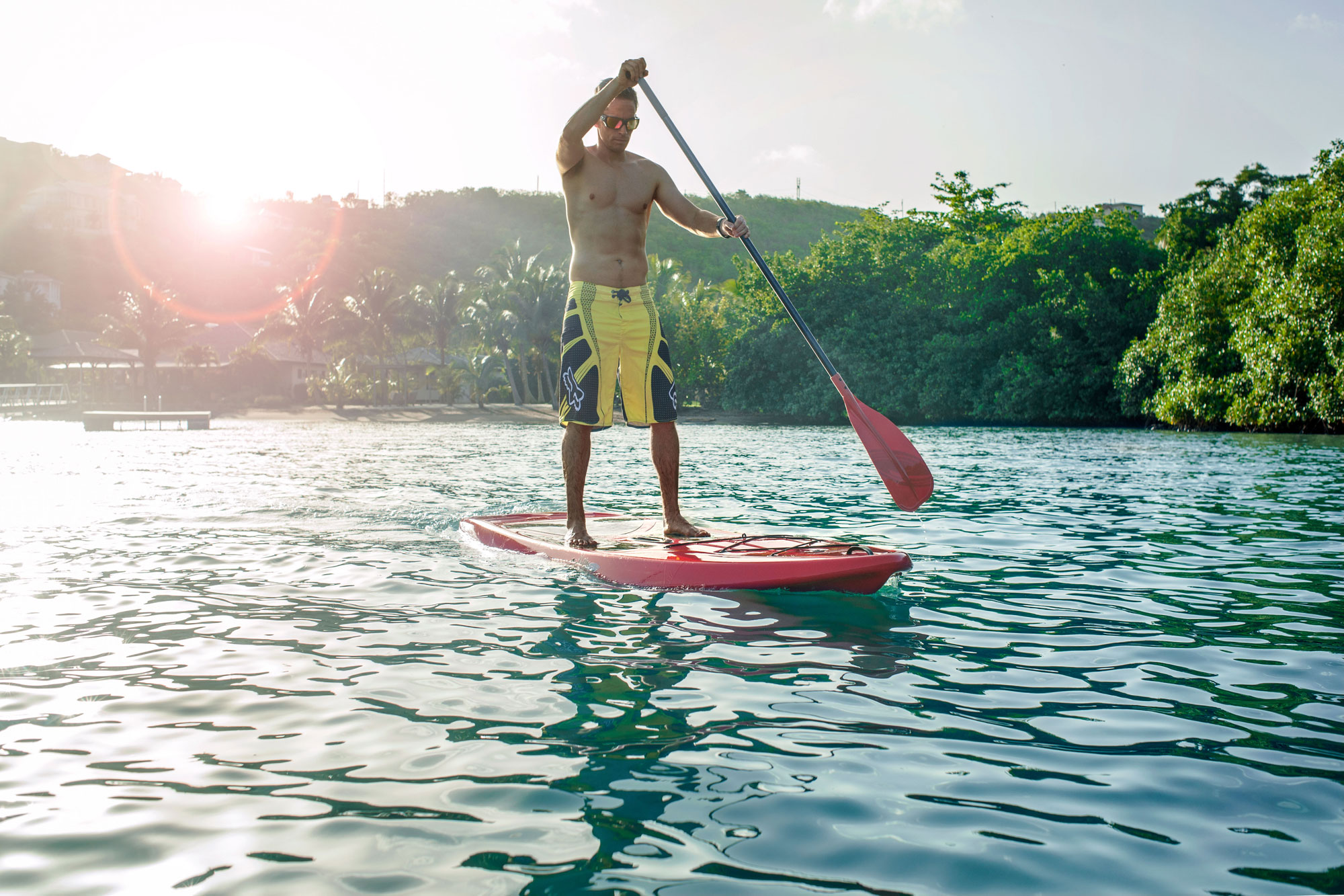 Stand up Paddle at Le Phare Bleu