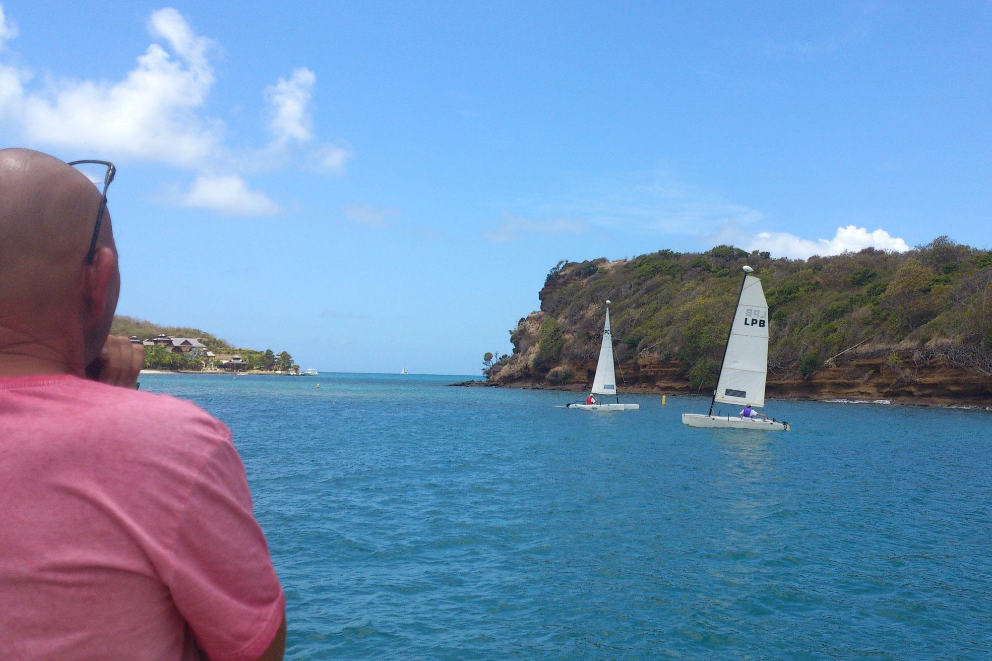 Hobie Cat sailing at Le Phare Bleu